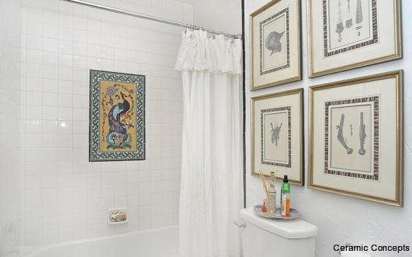 Decorative tiles for bathrooms modern or spanish deco tiles for Bathroom tile mural