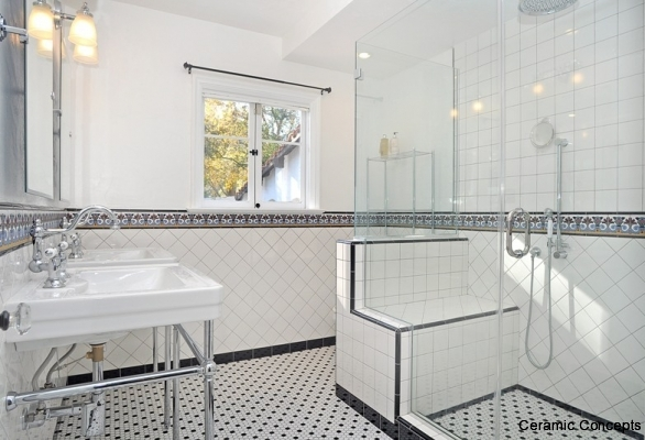 Decorative tiles for bathrooms modern or spanish deco tiles for Bathroom tiles spain