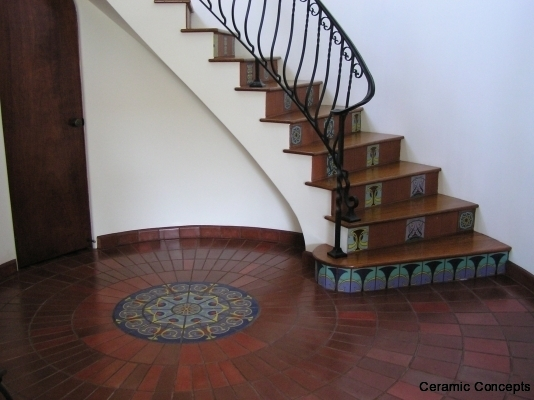 Fireplaces And Stair Risers Hand Painted Tile Art